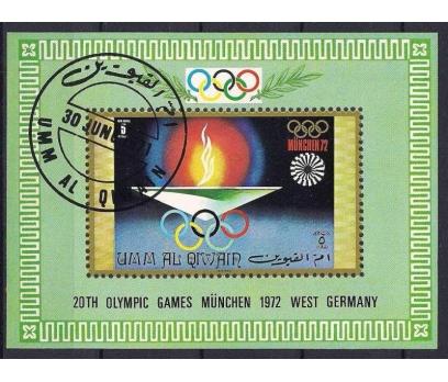 1971 Umm Al Qiwain Münih 72 Olimpiyat Damgalı