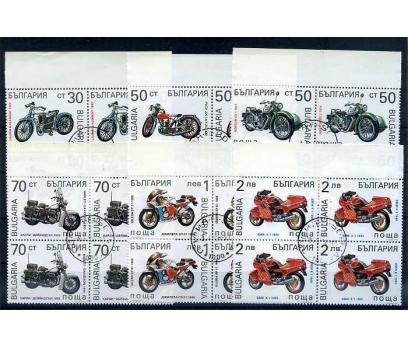 BULGARİSTAN 1992 MOTORSİKLET DBL GÖBEK DAMG.(0913)