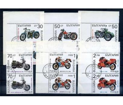 BULGARİSTAN 1992 MOTORSİKLET PER GÖBEK DAMG.(0913)