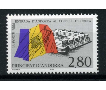 FR. ANDORRA **1995 AVRUPA KONSEYİ TAM SERİ SÜPER
