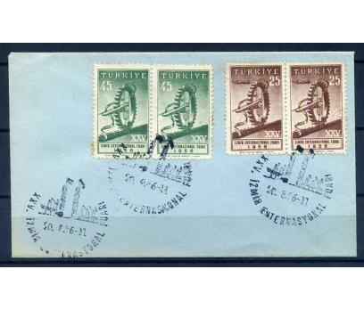 CUMH.FDC 1956 İZMİR FUARI PER SERİ SÜPER (İF-0913)