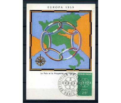 FRANSA ÖD-KM 1959 EUROPA YAN TEMA SÜPER (SB-0913)