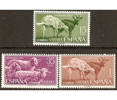 İSPANYOL SAHARASI 1962 DAMGASIZ YERLİ HAYVANLAR SE