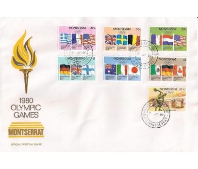 1980 Montserrat Moskova Olimpiyat Oyunları Fdc
