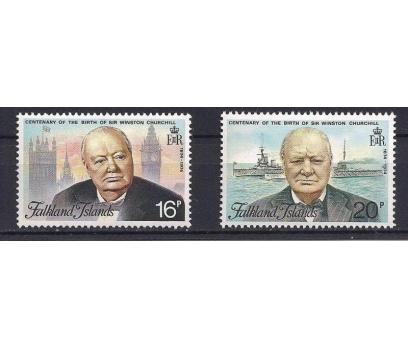 1974 Falkland Adaları Winston Churchill Damgasız**