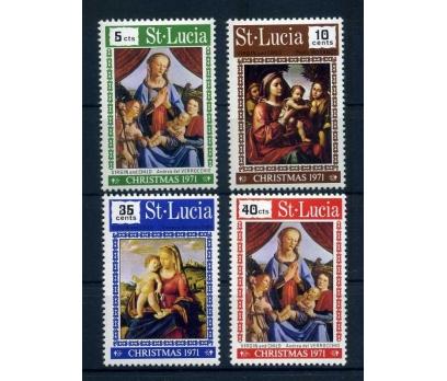 ST.LUCIA ** 1971 CHRISTMAS TAM SERİ SÜPER ( O-1 )