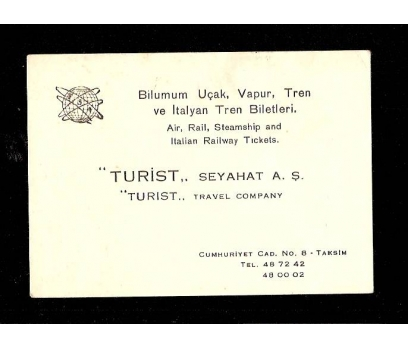 KARTVİZİT-TURİST SEYAHAT A.Ş. TAKSİM