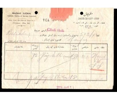 MAZHAR DJEMAL-CİBALİ HALK EVRAK 1928