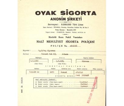 OYAK SİGORTA-KAZA SİGORTA MAKBUZU.
