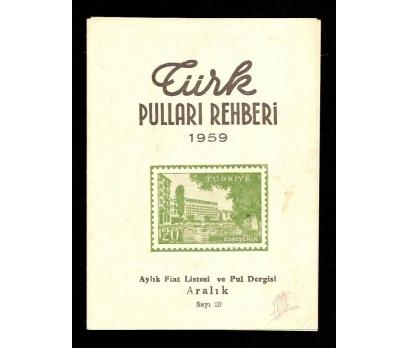 TÜRK PULLARI REHBERİ 1959 1