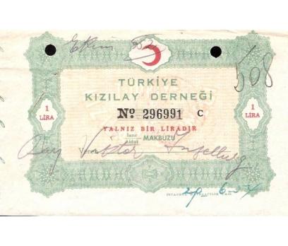 TÜRKİYE KIZILAY DERNEĞİ-YARDIM MAKBUZU 1957