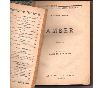 AMBER 3.CİLT-KATHLEEN WINSOR-VAHDET GÜLTEKN-1947