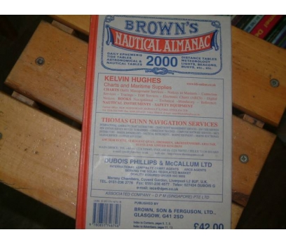 BROWN'S NAUTICAL ALMANAC DAILY TIDE TABLES FO