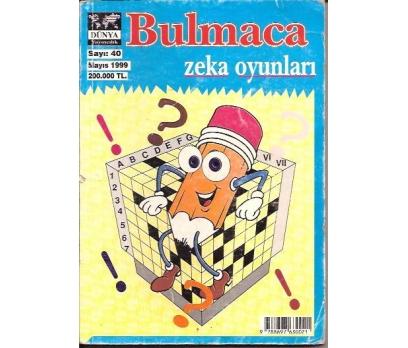 BULMACA ZEKA OYUNLARI-SAYI:40-1999