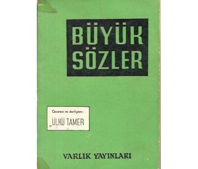 BÜYÜK SÖZLER-ÜLKÜ TAMER-1968