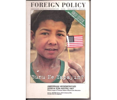 İLKSAHAF&FOREIGN POLICY-1998-AMERİKAN HAGEMONY