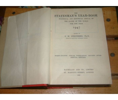 İLKSAHAF&STATESMAN'S YEAR-BOOK 1947