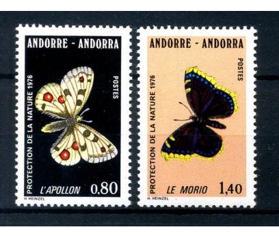 FR.ANDORRA ** 1976 KELEBEKLER TAM SERİ (280814)