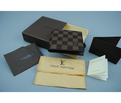 LOUIS VUITTON DAMİER CANVAS İTHAL KUTULU CÜZDAN 1