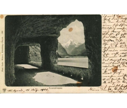 AXENSTRASSE 1901 İSVİÇRE  PG KARTPOSTAL (130914)