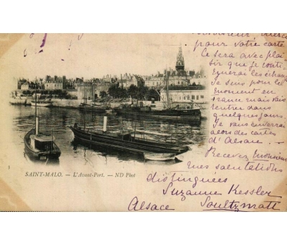 S.MALO **1930 FRANSA P.G.İSTANBUL'A KP(180914)