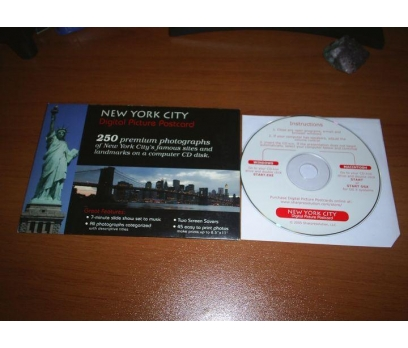 NEW YORK CITY DİGİTAL POSTCARD 250 RESİM CD'S