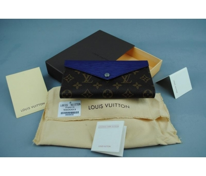 LOUİS VUİTTON MARIE-LOU LONG WALLET AÇIK LACİVERT