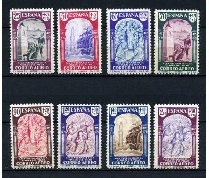 İSPANYA  *  1940  UÇAK İLK 8 VALÖR SÜPER (120115)