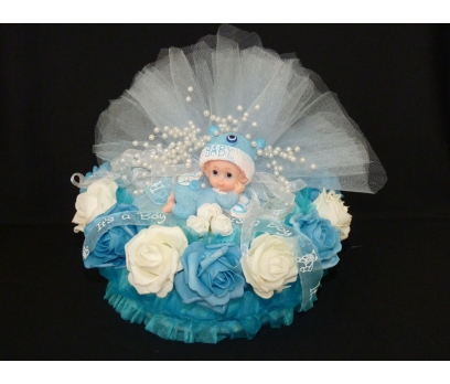 Güllü Bebek Bezi Pastası
