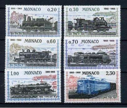 MONAKO ** 1968 TRENLER TAM SERİ SÜPER (200115)