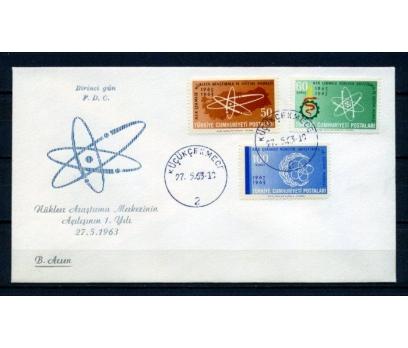CUMH.FDC 1963 NÜKLEER ARAŞTIRMA B.ARSEN(270215)