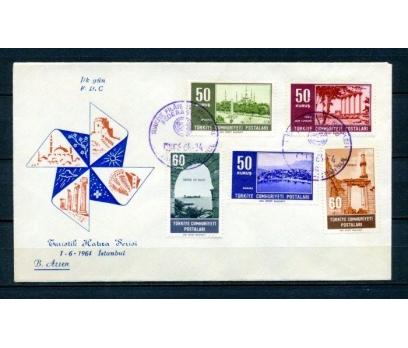 CUMH.FDC 1964 TURİSTİK SERİ B.ARSEN (270215)