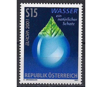 2001 Avusturya Europa Cept Su Damgasız**
