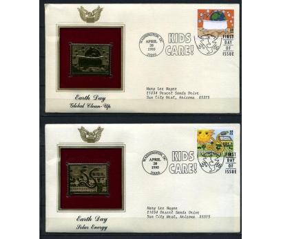 ABD  4 GOLD FDC 1995 DÜNYA GÜNÜ TAM SERİ (180315)