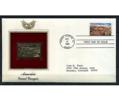 ABD  GOLD FDC 1990 GRAND KANYON TAM S.(180315)