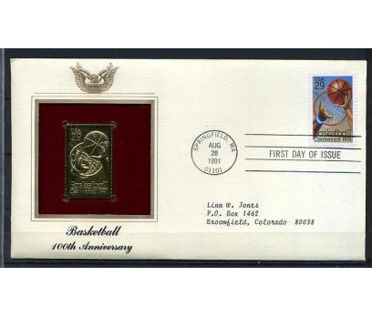 ABD GOLD FDC 1991 BASKETBOL SÜPER (170315)