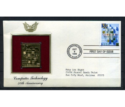 ABD GOLD FDC 1996 BİLGİSAYAR 50.YIL TAM S.(180315)