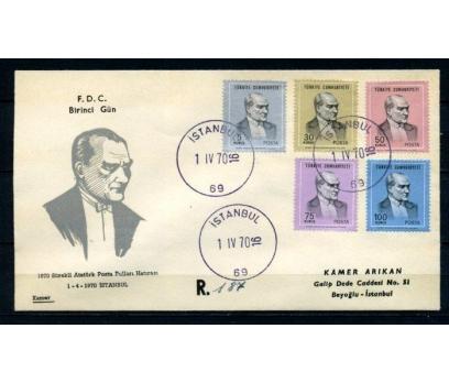 CUMH.FDC 1970 ATATÜRK SÜREKLİ SERİ KAMER (280215)