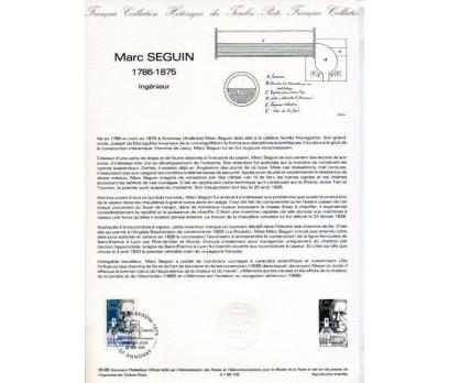 FRANSA 1986 HATIRA FÖYÜ MARC SEGUIN (120315)
