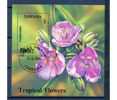 TANZANYA 1994 DAMGALI ÇİÇEK BLOK SÜPER (030315)
