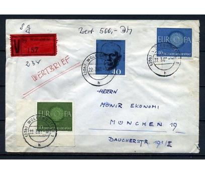 ALMANYA 1961  DEĞER KONMUŞ TAAHHÜTLÜ ZARF (090415)