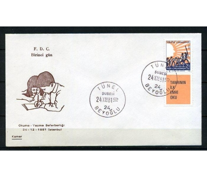CUMH.FDC 1981 OKUMA YAZMA SEF. KAMER (230415)