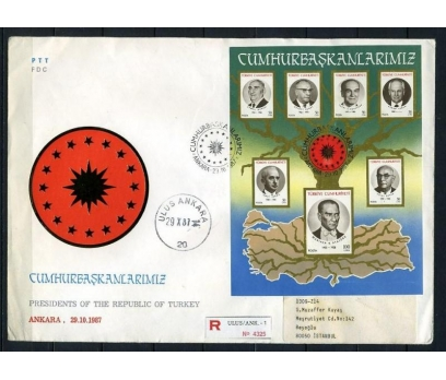 CUMH.FDC 1987 CUMHURBAŞKANLARIMIZ T.SÜPER (230415)