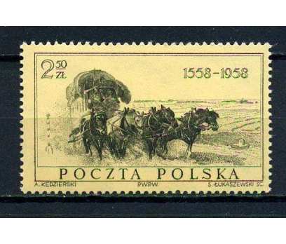 POLONYA ** 1958 POSTA 400.YIL TAM S.SÜPER (110415)