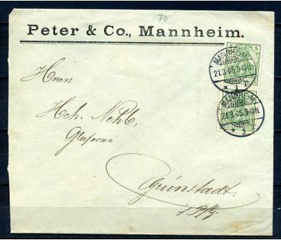 REİCH 1905 KLASİK PER PULLA POSTADAN G.Z.(080415)