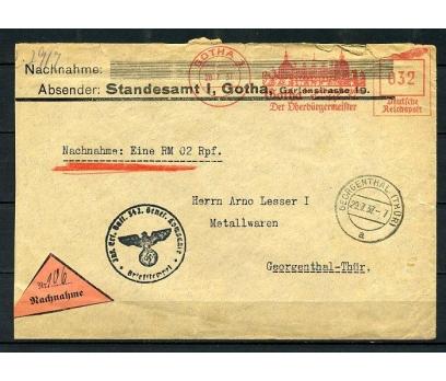 REİCH 1937 NAZİ DAM VE OTOMAT PULLA P.G.Z.(090415)