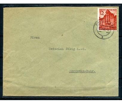 REİCH 1938 DANZİG TEK PULLA POST. G.ZARF (080415)