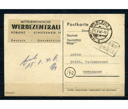 REİCH  1946 POSTADAN GEÇMİŞ POSTKART (070415)