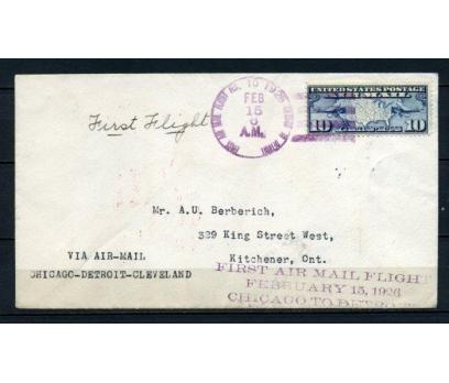 ABD 1926 Ö.D. CHİCAGO-CLEVELAND İLK UÇUŞ (150515)