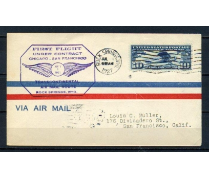 ABD 1927 Ö.D. CHİCAGO-SAN FRANCİSKO İLK U.(150515)